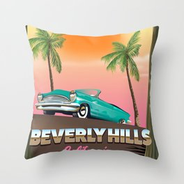 Beverly Hills California Throw Pillow