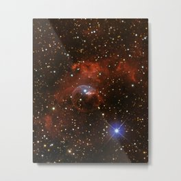 Bubble Nebula (vertical mode) Metal Print