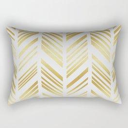 Chevron golden Rectangular Pillow