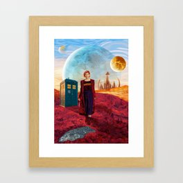 13th Doctor at Gallifrey Planet Framed Art Print