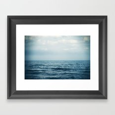 sink or swim. Framed Art Print
