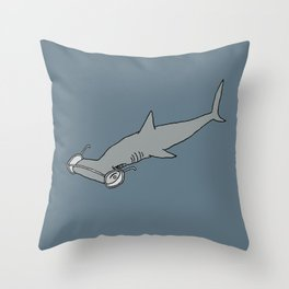 4-Eyed Hammerhead Shark Week Throw Pillow