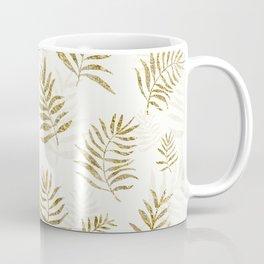 Gold Autumn Leaves Coffee Mug