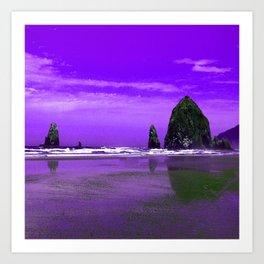 Oregon Coast Abstract Art Print