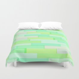 Brickwork Green Duvet Cover