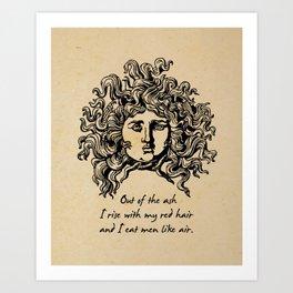 Sylvia Plath - Lady Lazarus Art Print