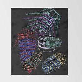 Silurian and Devonian Era Trilobites 2 Throw Blanket