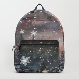 Fairytale winter woman Backpack