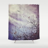 flight Shower Curtains featuring FLIGHT by ALLY COXON