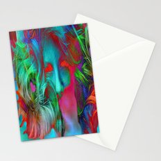 Digital Face Abstract Stationery Cards