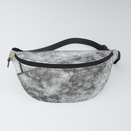 Combined abstract pattern in black and white . Fanny Pack