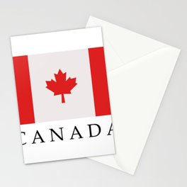 flag canada Stationery Cards