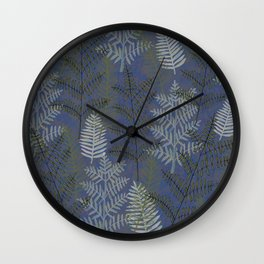 Ferns Slate Wall Clock