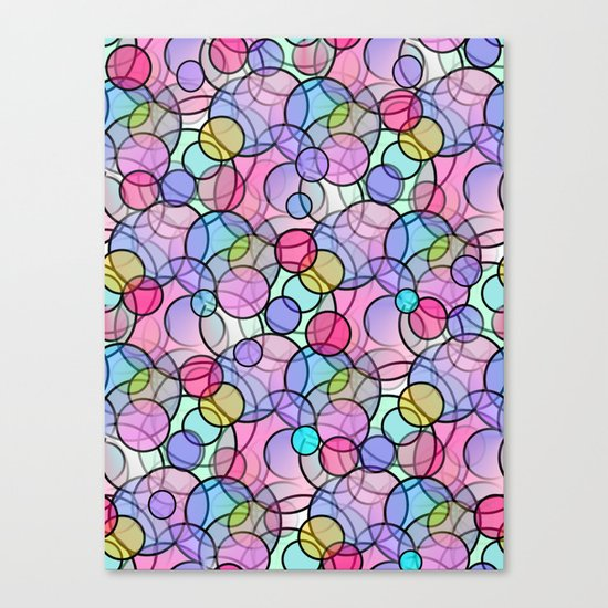 Pastel Circles Canvas Print