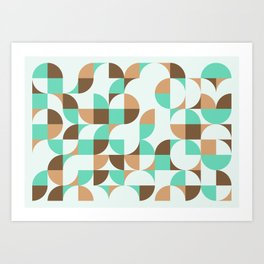 Mint and Chocolate Fresh Pattern Art Print