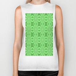 Green Floral Pattern Biker Tank
