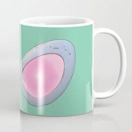 Blue and Pink Cat Eye Glasses Coffee Mug