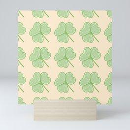 Cute Shamrock Pattern Mini Art Print