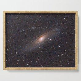 The Andromeda Galaxy Serving Tray