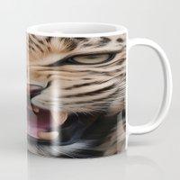 leopard Mugs featuring Leopard   by Brian Raggatt