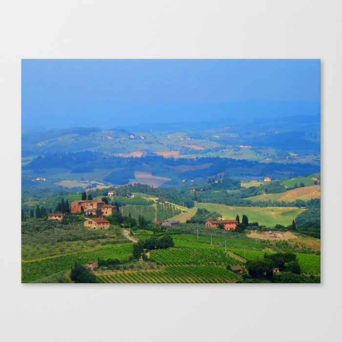 Hills of Tuscany Canvas Print