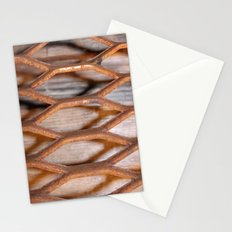 Rusted Steel Faded Wood Stationery Cards