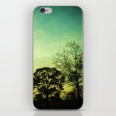 Orange Green Blue Sky iPhone Skin