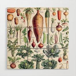 Adolphe Millot - Légumes pour tous - French vintage poster Wood Wall Art