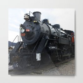 Vintage Railroad Steam Train Metal Print