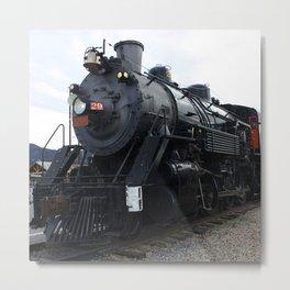 Vintage Railroad Steam Train Metal Print