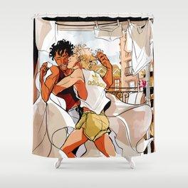 Achilles & Patroclus laundry day Shower Curtain