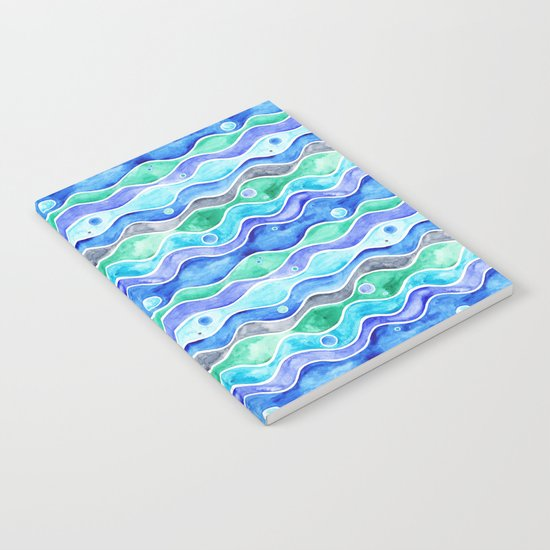 Ocean Pattern - Dolphin Notebook