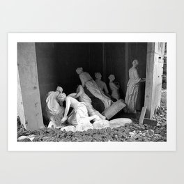 Ghosts of Lovers Past black and white photograph / art photography Art Print