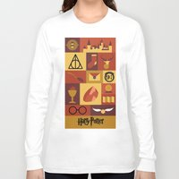 potter Long Sleeve T-shirts featuring Potter by Polvo