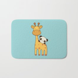 Cute and Kawaii Giraffe and Panda Bath Mat