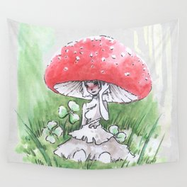 Empire of Mushrooms: Amanita Muscaria Wall Tapestry