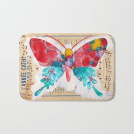 French Butterfly Bath Mat