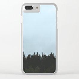 Norwegian Wood Clear iPhone Case