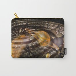 Space Warp 3D Mixed Media Carry-All Pouch