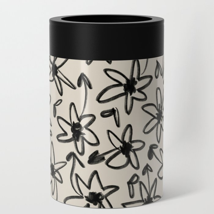 Hand Drawn Flowers Can Cooler