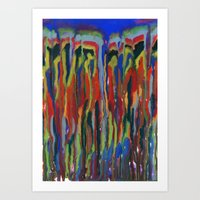 waterfall Art Prints featuring WATERFALL by u t a