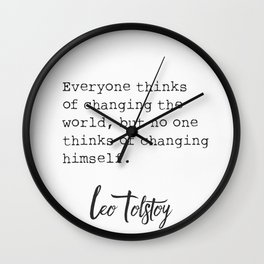 Leo Tolstoy old quote Wall Clock