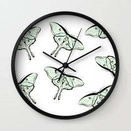 Lunar Moths Wall Clock