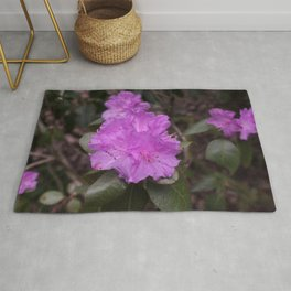 Purple Rhododendrons Rug