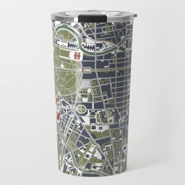 Berlin city map engraving Travel Mug