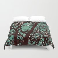 lights Duvet Covers featuring Night Lights by elle moss