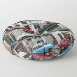 Cuba Cars - Horizontal Floor Pillow