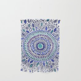 Indigo Flowered Mandala Wall Hanging