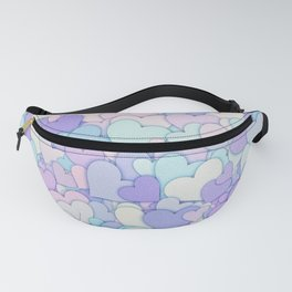 Cute Pastel Hearts 2 Fanny Pack