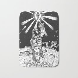 Spaceman Grey Bath Mat